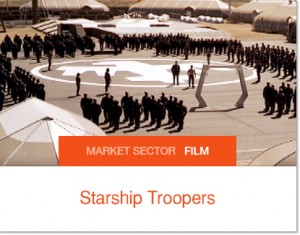 Sprung Structures used in Starship Trooper