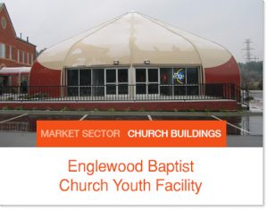 Englewood Baptist Church Youth Facility tent Sprung Building