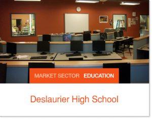 Deslaurier High School Sprung building