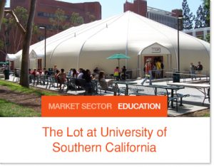 The Lot University of California Sprung Tent and KTG Kitchen to Go