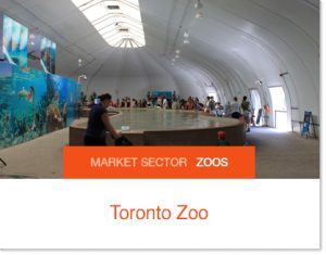 Toronto Zoo animal exhibit panda exhibit banquet venue event venue sprung building