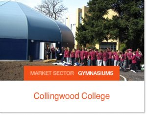 Collingwood College School Gym Sprung Tent