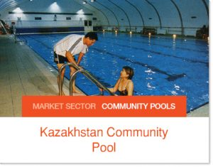 Kazakhstan Community Pool ove 20 years old tent pool enclosure