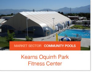 Kearns Pool Community Pool Sprung Builidng
