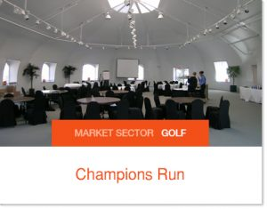 Champions Run Golf Banquet Facilities Sprung Tent permenant tent