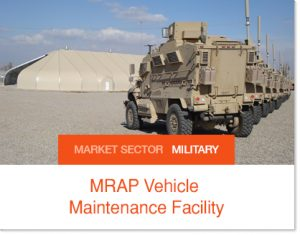 MRAP Vehicle Maintenance Facility Sprung buildings