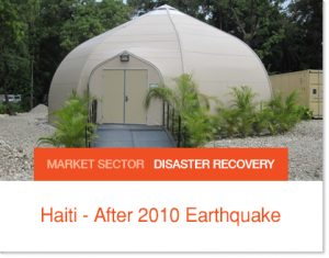 Haiti Earthquake new offices after Earthquake in sprung structures