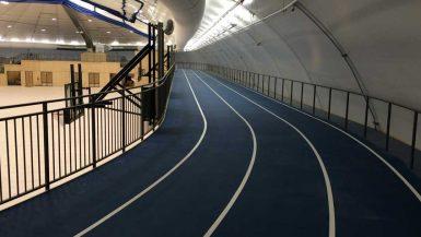 raised running track at martensville