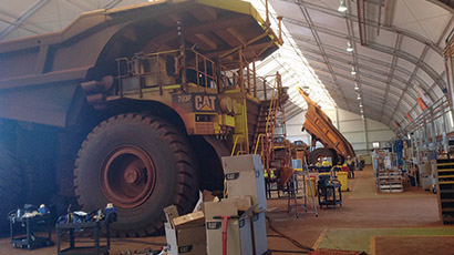 Haul Truck Workshop and Warehouse