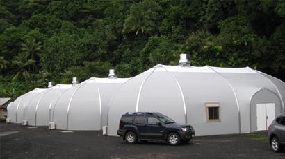 Sprung prefab structures