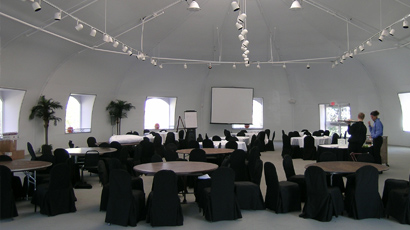 Champion Golf Club banquet facilities. Fabric buildings