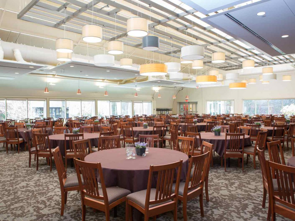 Harvard interim dining facilities in a Sprung fabric structure and KTG Dining Tent