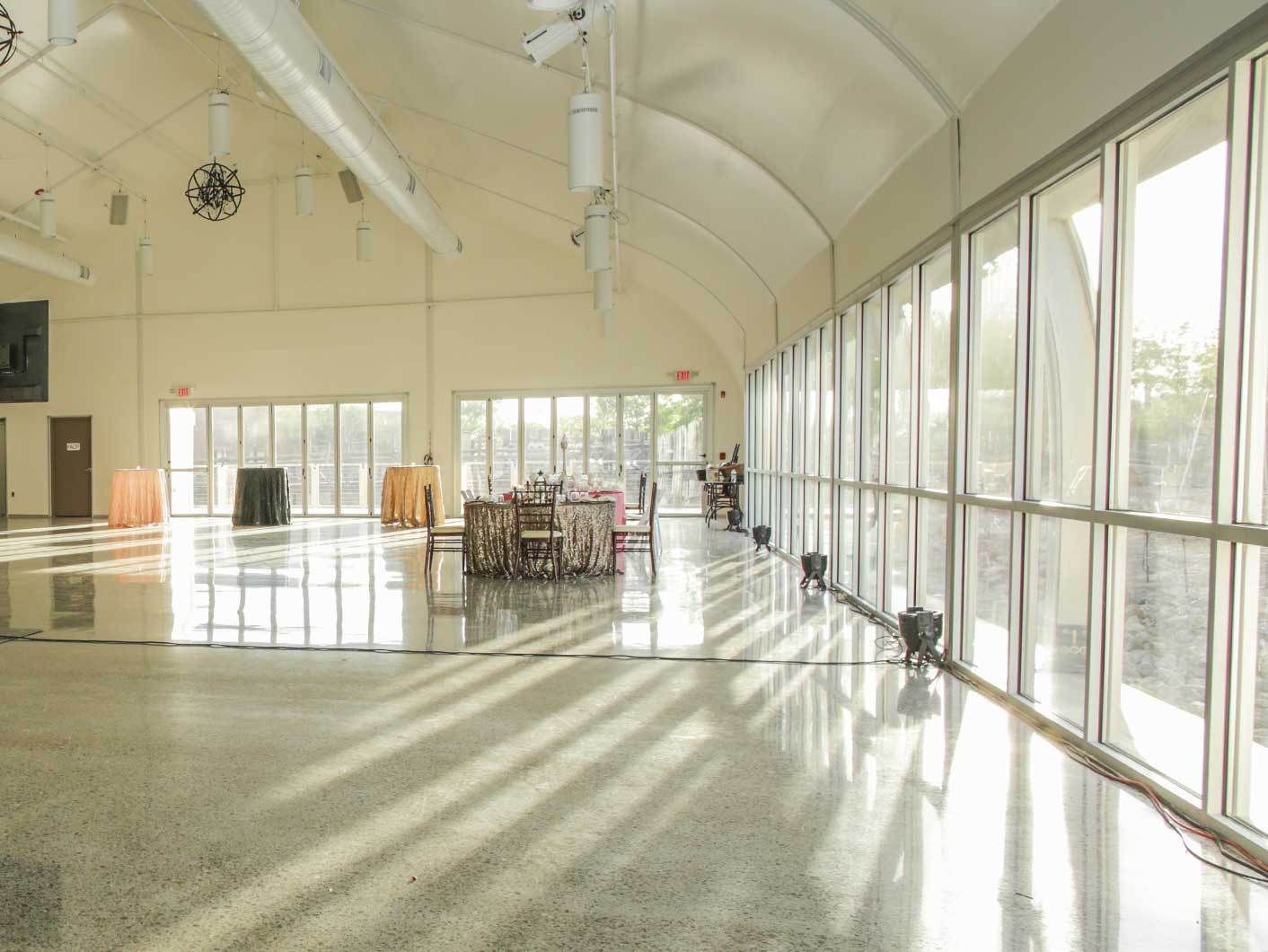 Glazing Walls Brings Lots Of Natural Light Into The Front Lobby
