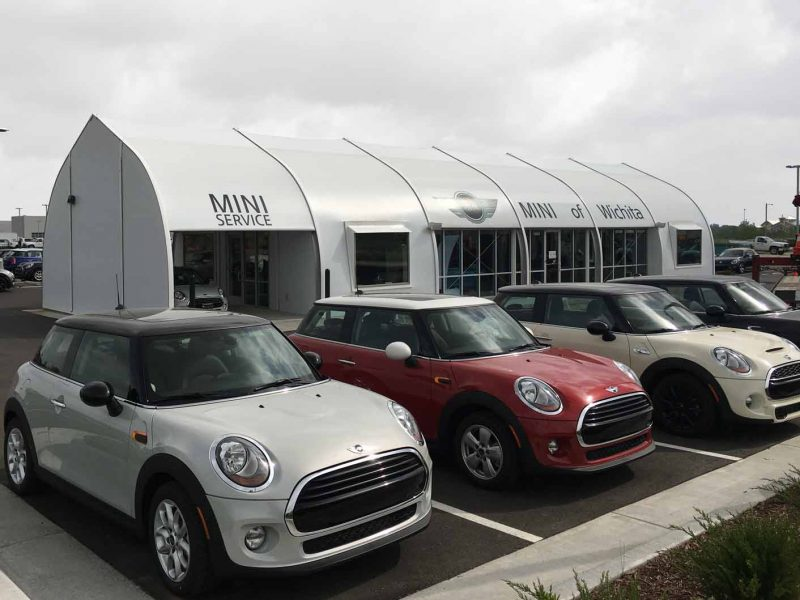 Temporary Automotive Dealership - dealership tent