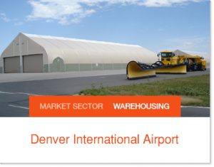 Denver International Airport Emergency Storage Buildings for Airports Sprung Structures