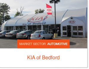 Kia of Bedford Kia Interim Dealership Sprung Building