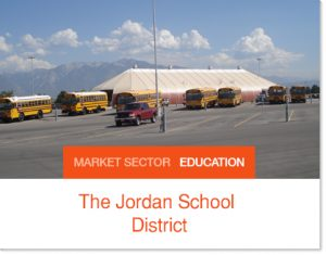 Jordan School district bus depot tent building sprung