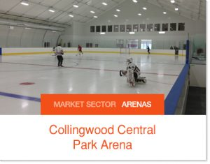 Collingwood Central Park Arena Sprung High Performance Arena Ice Arenas in a Tent