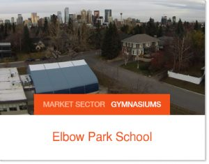Elbow Park School Temporary School Gymnasium Sprung Building