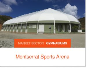 Montserrat Sports Arena Covered Basketball Court Basketball Tent Sprung Structure