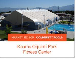 Kearns Pool Community Pool Sprung Builidng