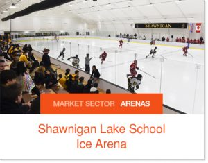 Shawnigan Lake School Ice Arena Accent Ice Sprung Structure