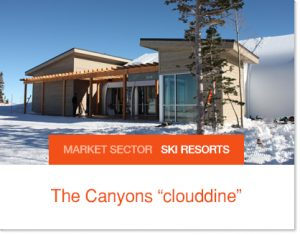 The Canyons Cloudding on hill dining sprung structure for short building times