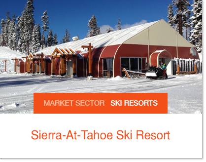 Sierra at Tahoe Ski Resort Dining on Hill Sprung Tent