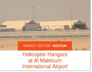 Helicopter Hangars at Al maktoum International Airport t Sprung Buildings