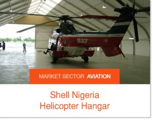 Shell Nigeria Helicpopter Hangar t Sprung Buildings