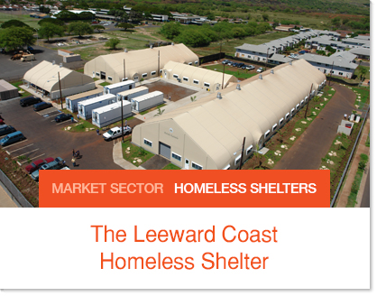 Hawaiin Homeless Shelters Sprung Buildings