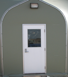 Sprung Personnel Door Single half glass