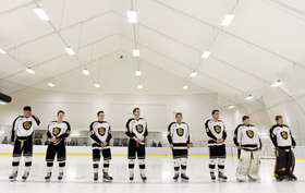 Shawnigan Sprung Arena in a high tech tent