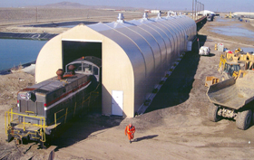 Sprung Fabric Structures Rail Structures covered rail lines