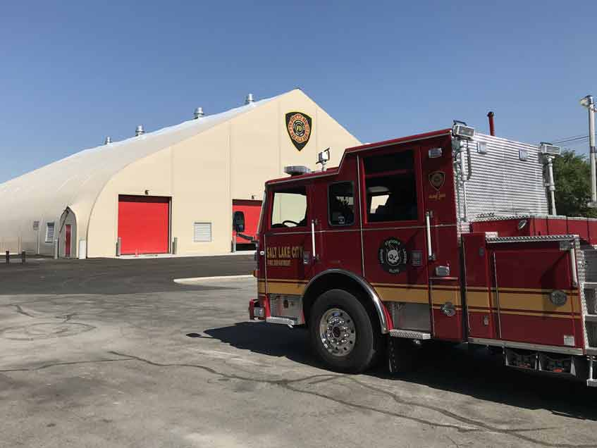 Sprung Emergency Fire Station prefab structure, modular building