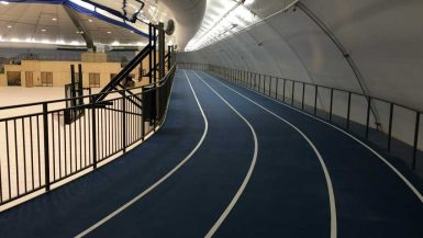 raised running track at martensville