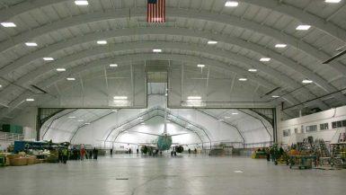 Sprung Aircraft Hangar Expansion tensile structure hangar expansion