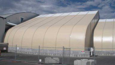 Sprung Aircraft Hangar Expansion - tensile structure