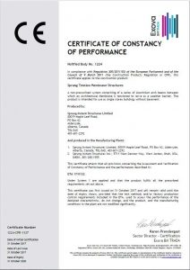 CE certification for Sprung Structures