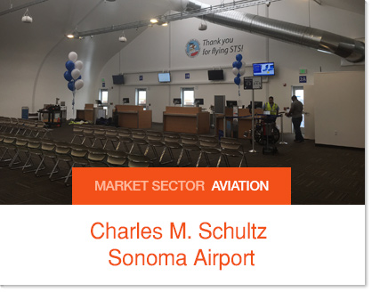 Charles M. Schultz Sonoma Airport Sprung Pasenger Holding Room
