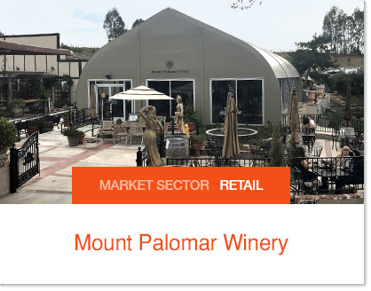 Mount Palomar Winery Sprung Banquet Facilities
