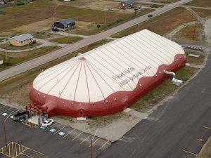 Piikani Arena Sprung Structure - modular building