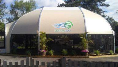 Zoo Aviary exhibit Temporary building