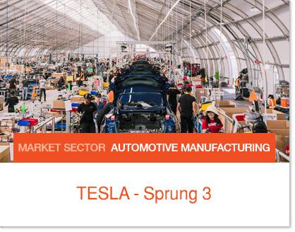 Tesla Tent - Sprung Modular Building