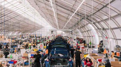 Sprung Tesla Tent