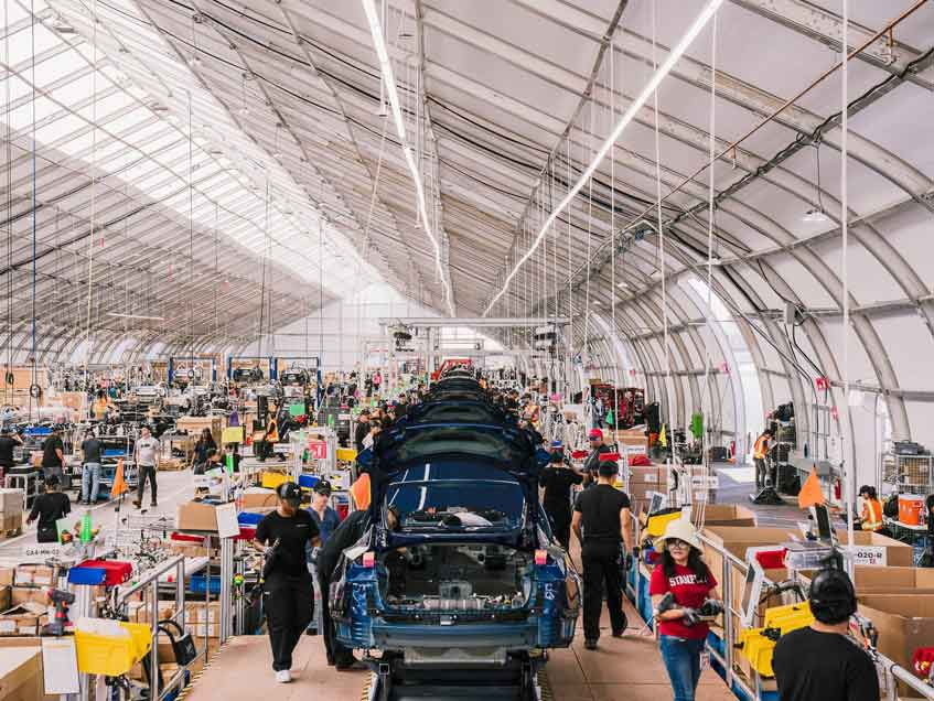 Sprung Tesla Tent - Credit Justin Kaneps for The New York Times.