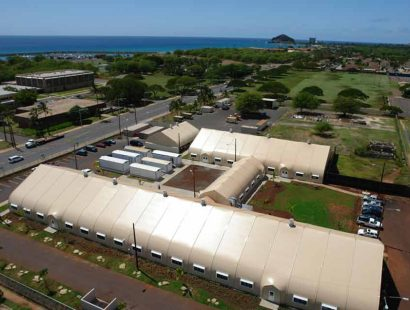 Sprung structures - Hawaii Homeless Shelter