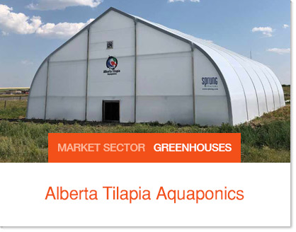 Sprung greenhouse - Alberta Tilapia Aquaponics