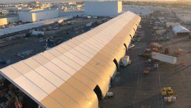 Tesla Tent Sprung Structure