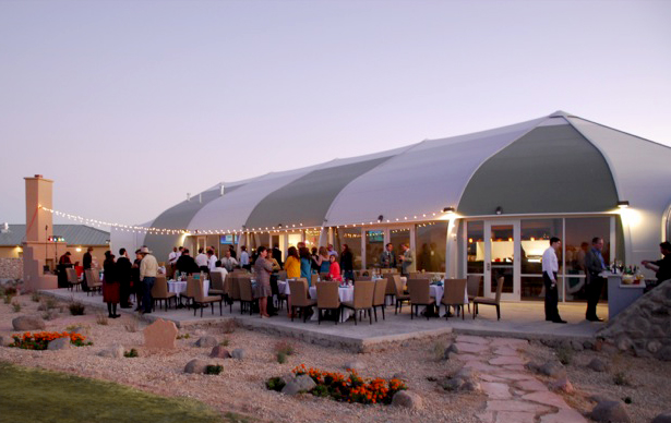 Sprung Hospitality - in a tensile structure designed and manufactured by Sprung Structures.